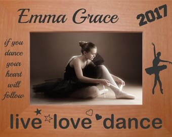 Personalized Engraved Ballet / Dance Photo Frame Gift
