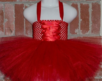halter style tutu dress with lacing / corset detail