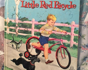 The Little Red Bicycle Vintage Children's Book,
