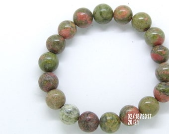 B021710 Multi Colored   Brown Ceramic Beaded Bracelet.