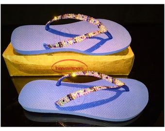 Havaianas Flip Flops, Swarovski Havaianas, crystals bling Havaianas, Swarovski, bling flip flop, Embellished Havaianas flip flops