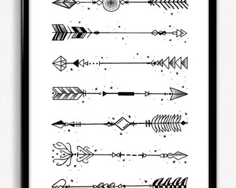 Dot work arrow print