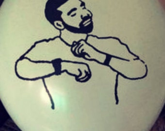 Drake with my woes balloons