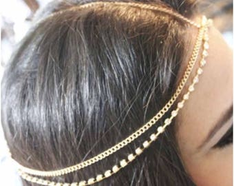 Gold, Bold & Sparkly Head Statement Jewelry