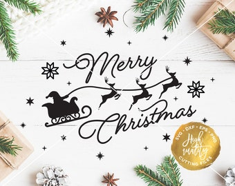 Merry Christmas SVG Cut File, Christmas Vector, Christmas Cutting File, Merry Christmas SVG, Winter Svg Cut File, Holiday Svg Cutting File