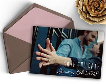 Save The Date Photo Postcard Design