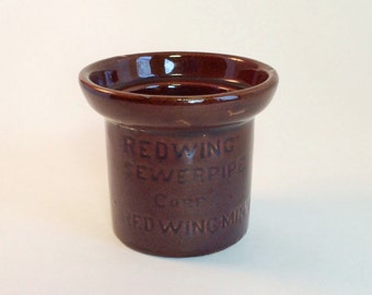 Red Wing Pottery Sewer Pipe Sample Souvenir Salesman Rare Advertising Sample Vintage Early 1900s Collectible