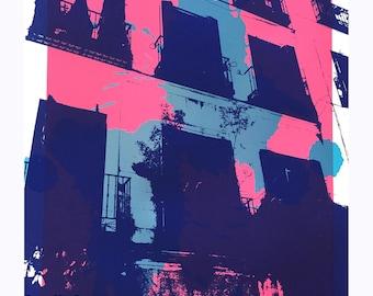 Piso - Pink Screen Print