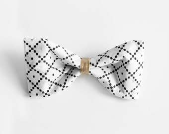 Unique Handmade bow tie, drawn by hand on washable paper