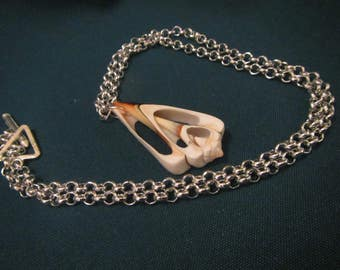 large cut shell necklace