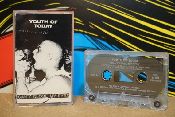 Can't Close My Eyes by Youth Of Today Vintage Cassette Tape
