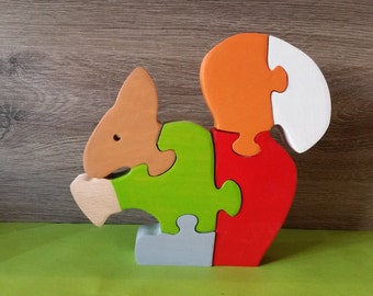 Wooden toys squirrel
