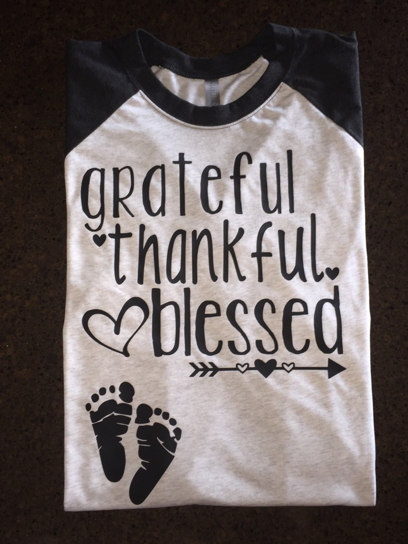 Pregnancy Announcement Shirt Women S Thankful Shirt
