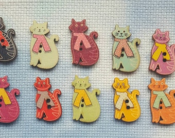 SALE: Colourful cat shaped needle minder