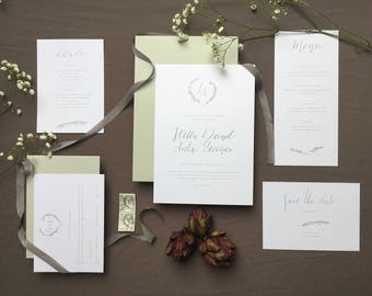 Save the date card with handwritten calligraphy individual invitation *.