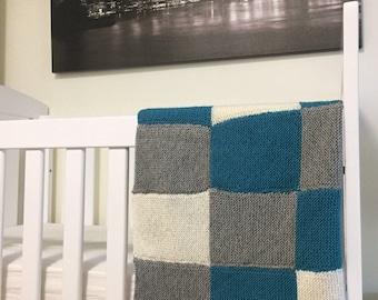 Knit Wool Blanket / Knit Throw Blanket / Baby Blanket / Kids Minky Blankets / Personalised Wool Blanket