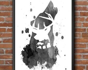 The Marauders, Harry Potter Art, Harry Potter Print, Padfoot Harry Potter, Moony Art Print, Wormtail Poster, Prongs Wall Art