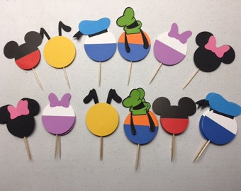 Mickey Mouse Clubhouse cupcake toppers-set of 12