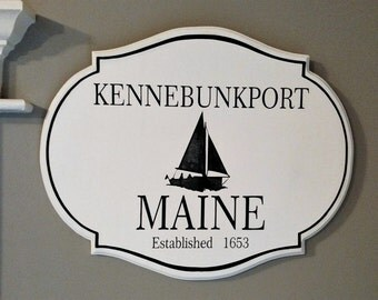 Kennebunkport Maine Engraved Sign