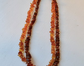 Lot of Two Amber Necklaces