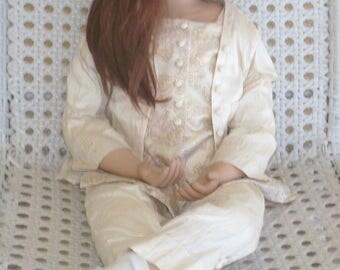"RARE! Elite Dolls ""Beverly"" by Christine Orange Porcelain 36"" Tall"