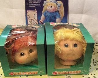 Vintage Little Baby Doll Heads and Doll Baby Body/ doll making kit