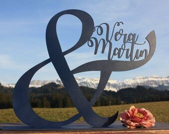 Personalized Ampersand - Wood Ampersand Name - Custom Wood Sign - Rustic Wedding Sign - Customized Ampersand - Personalised Sign