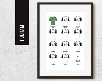 FULHAM 2010 Last 16 Europa League Football Poster Art Print *FREE UK Delivery* Gift Idea