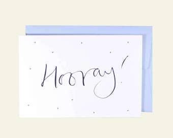 Hooray! Greetings Card. Celebration. New Baby. New Home.