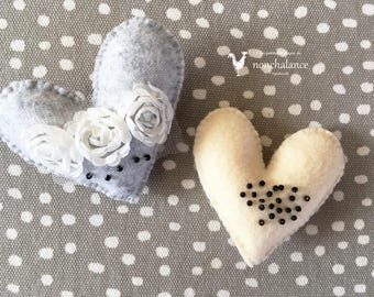 Heart brooch A set