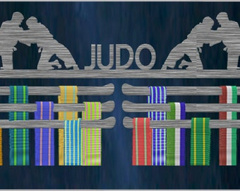 Male Judo Triple Tier Stainless Steel Medal Hanger Display