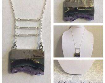 "40"" Purple Amethyst Necklace"