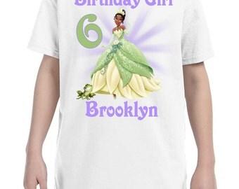 Tiana Princess and the Frog Birthday Shirt Peronalized