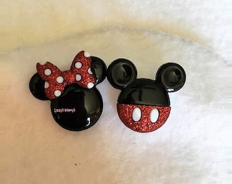 Minnie and Mickey Mouse Earrings