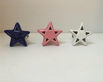 Star Shaped Ceramic Knob/Handle for Furniture