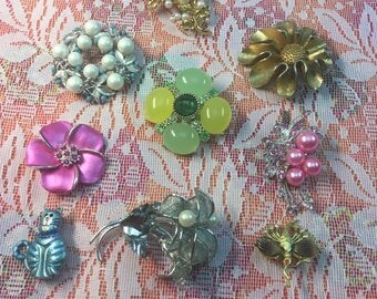Amazing selection of Vintage 1950s Brooches Your Choice Twelve Dollars Each