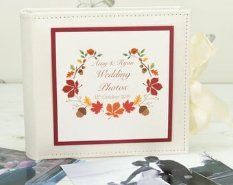 Personalised Autumn Wedding Photo Album