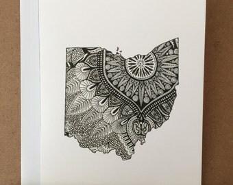 Ohio Mandala Stationery