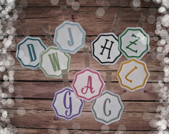 Embroidered Initial Ornament