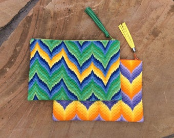 Needlepoint Zippered Pouch
