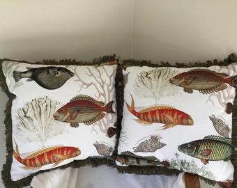 Fish pillows (set of 2)