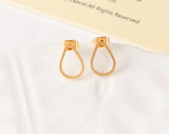Plated Sarah earrings gold drop chic jewelry women gift minimalist modern trendy elegant