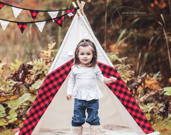 Teepee, play tent - model LUMBERJACK