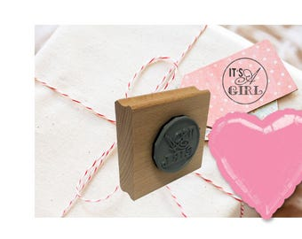 It's A Girl! Rubber Stamp