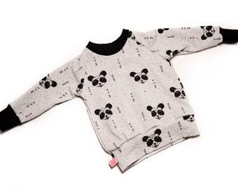 Sweater grey black Panda