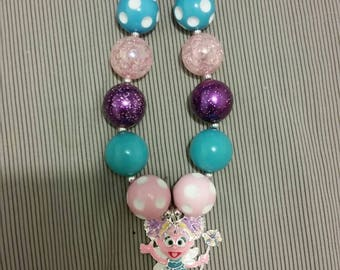 Toddler size Abby Cadabby chunky bead necklace