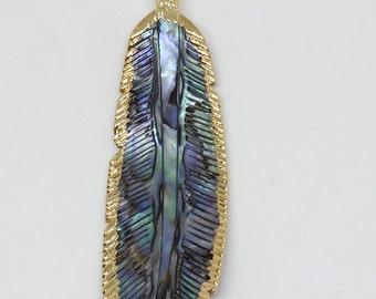 Abalone Leaf Pendant