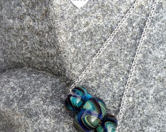 Sterling Silver Lampwork Beaded Necklace