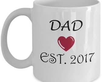 Dad Established 2017 Mug, Dad Mug, Dad gift, Pregnancy Announcement Mug, Dad to be, New Dad