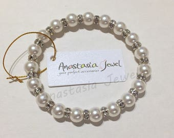 Mothers Day Gift - Exquisite Handmade Swarovski Pearl-Crystal Bracelet